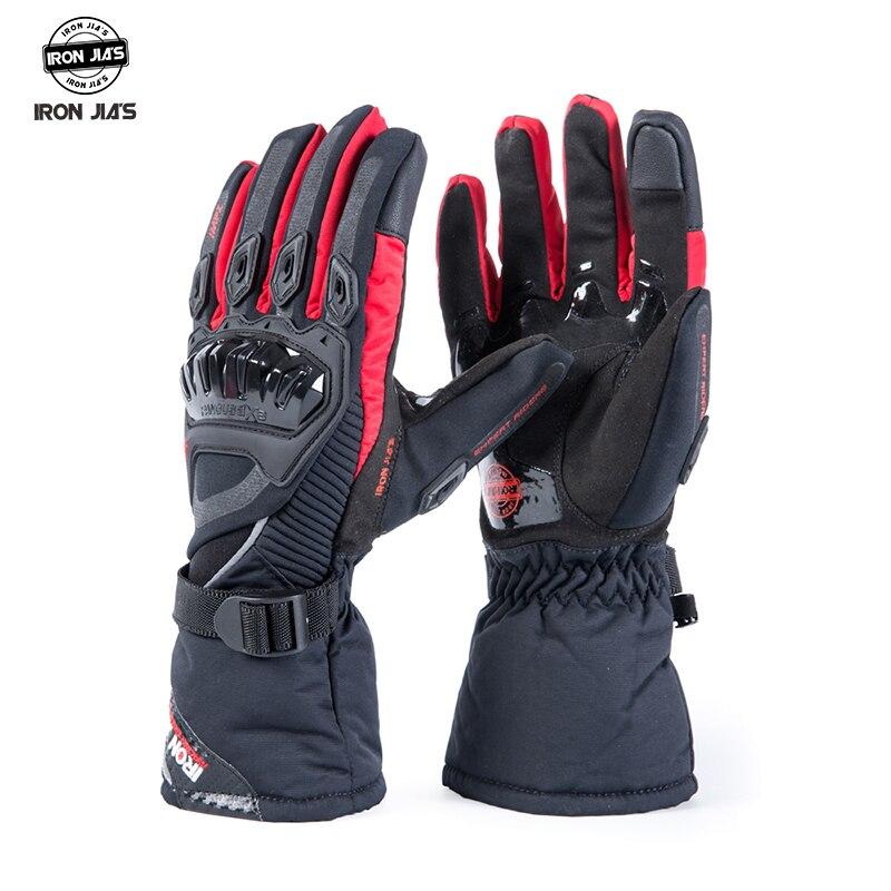 IRON JIA'S gants de Moto écran tactile hiver chaud imperméable gants de protection Guantes Moto Luvas Alpine Motocross Stars