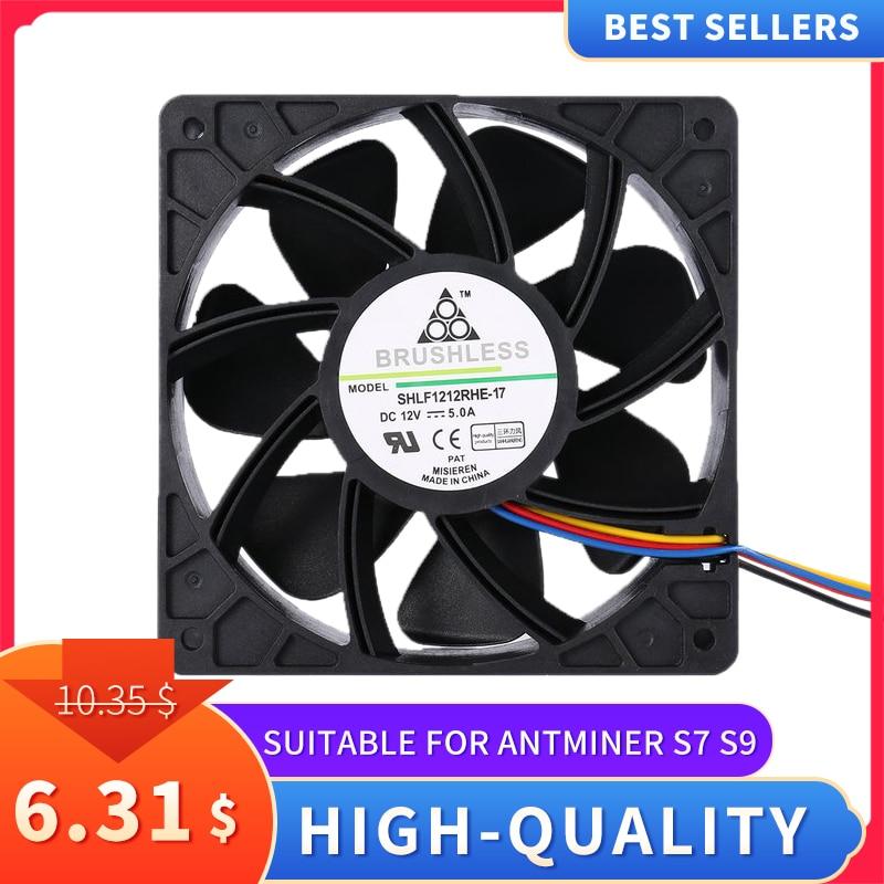 LESHP 7500 об/мин DC12V 5.0A Майнер охлаждающий вентилятор для Antminer Bitmain S7 S9 4-контактный разъем бесщеточный Замена охладитель низкая Шум