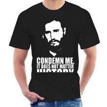 Fidel Castro T Hemd Revolution Kuba Kommunistischen Tribut Che Politische T-shirt Kurzarm Grund Tops Top T Tier @ 000657