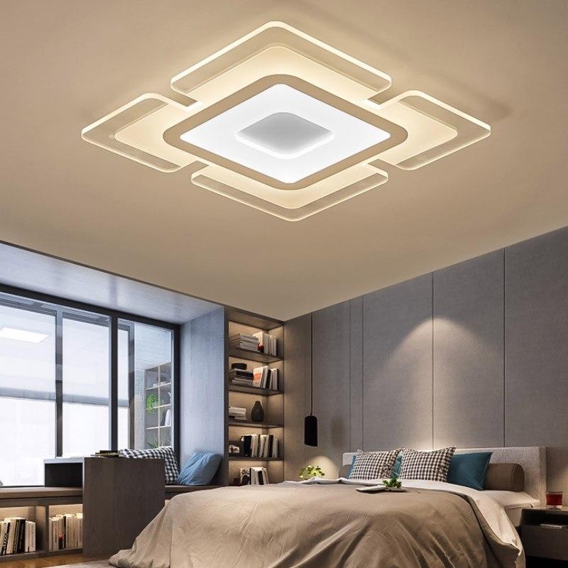 luzes de teto modernas com controle remoto regulavel ac 110 220 v conduziu a lampada para