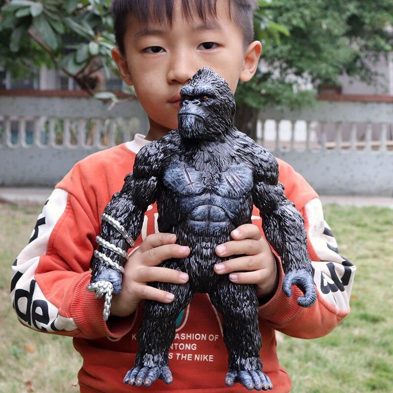 Детские королевские игрушки гориллы полые животных модель гигантская обезьяна большой шимпанзе дикий Конга Titan животных модель игрушки дл...