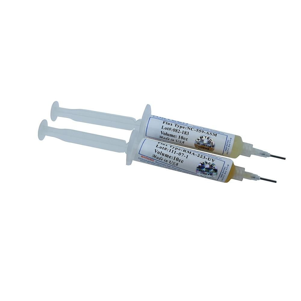 1PCS 10cc 559 NC-559-ASM + 1PCS RMA-223-UV Flux Paste Lead-free Solder Paste Solder Flux + Needles Piston