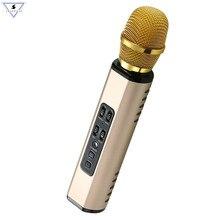 Microphone Dual-Speaker Bluetooth-Karaoke Professional Singing-Record Music Portable