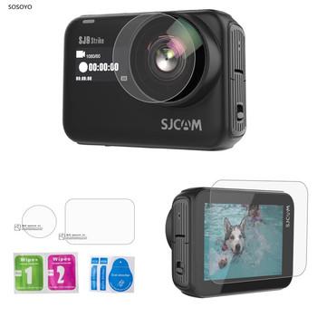 Ekran HD folia ochronna na obiektyw aparatu folia ze szkła hartowanego zestaw dla SJCAM SJ9strike SJ9MAX sj4000X akcesoria do kamer sportowych tanie i dobre opinie SOSOYO GP0594 Pakiet 1