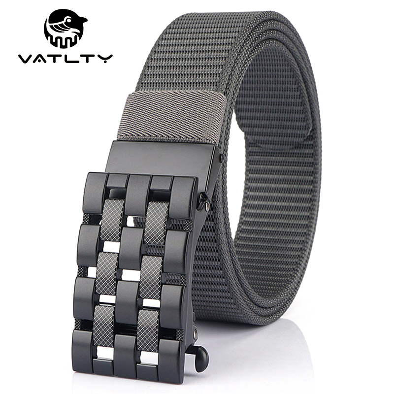 VATLTY Official Authentic 3.4cm Belts For Men Anti-Rust Alloy Buckle Outdoor Work Belt Strong Thick Nylon Army Tactical Belt Men