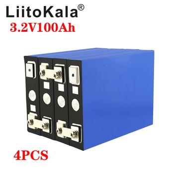 LiFePO4-batería de litio para coche eléctrico, fosfato de hierro, bricolaje, 4S, 12V, 24V, 300A, 3,2 V, 100Ah, 4 Uds. 2