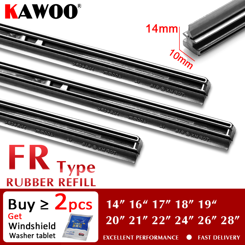 "KAWOO Auto Windscreen Car Wiper blade Strips Vehicle Insert Rubber Strip 14""16""17""18""19""20""21""22""24""26"" FR 10mm 1pcs Accessories|Windscreen Wipers| - AliExpress"