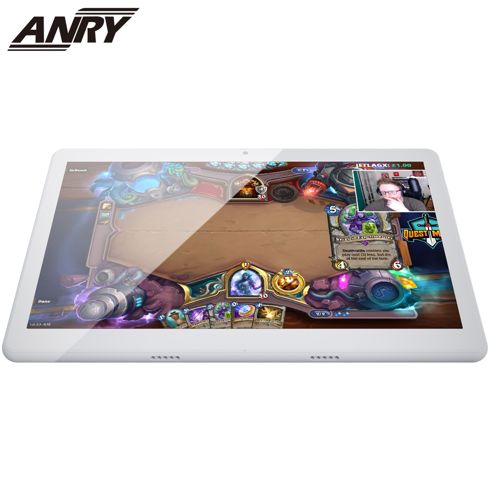 ANRY Android WiFi GPS Bluetooth Tablet RAM 4GB ROM 64GB 10 Inch IPS Screen Octa Core 4G Phone Call With SIM Card Slot