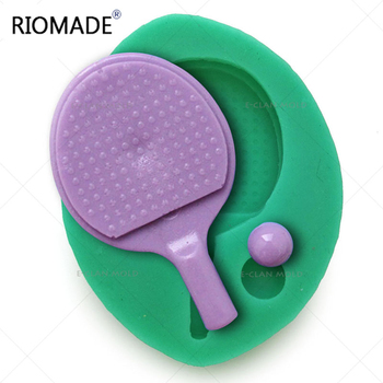 Pingpong Sport Fondant Cake Decorating Tools Silicone Chocolate Mold Dessert Sugarcraft Baking Mould F0604BB image