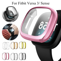 Funda de Tpu suave para Fitbit Versa 3, carcasa de reloj resistente al agua, Protector de pantalla para Fitbit Versa