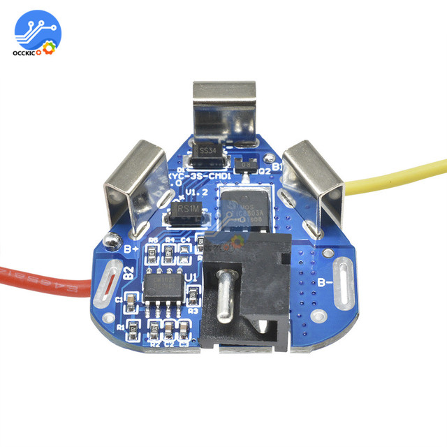BMS 3S 12.6V 6A 18650 Li-ion Lithium Battery Charger Protection Board Power Bank Balancer Equalizer for Motor Drill 1