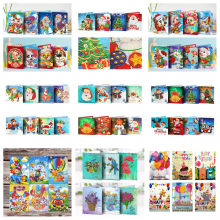 5D DIY Diamond Mosaic Greeting Card Christmas Birthday Halloween Diamond Painting Kit Embroidery Holiday Gift