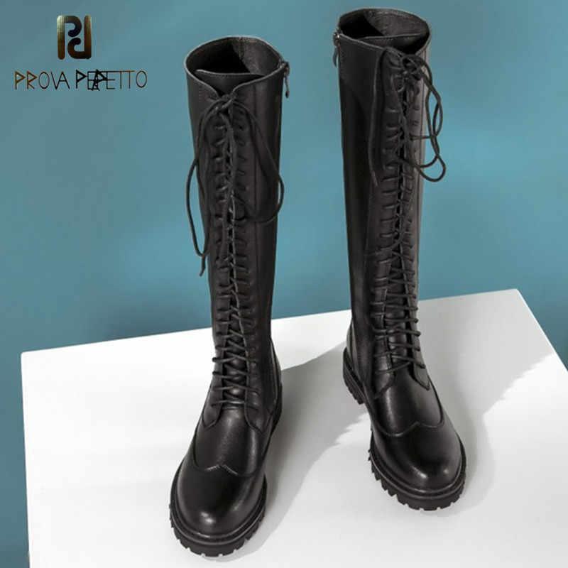 Prova Perfetto נשים בוהן עגול Steampunk גותי בציר סגנון רטרו פאנק צבאי לחימה מגפי zapatos de mujer מכירה לוהטת מגפיים