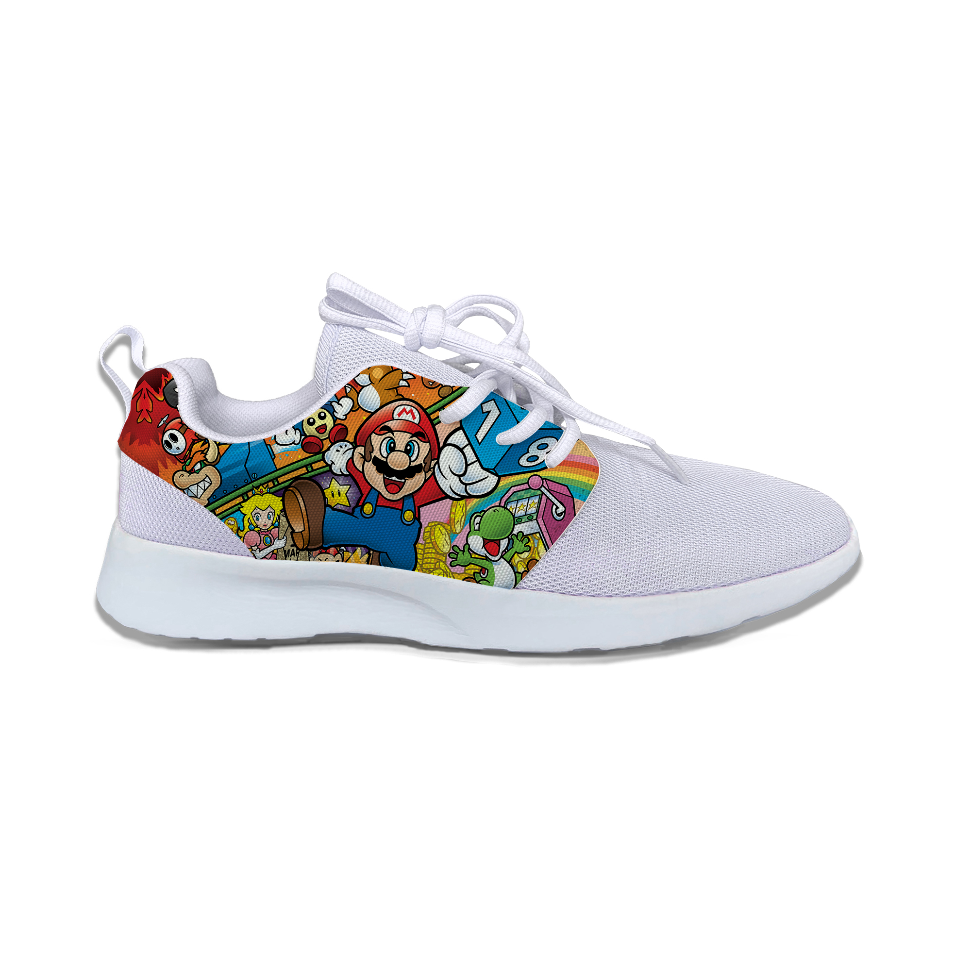 Game Mario Hot Super Fashion Cool Cartoon Kids Breathable Sport Running Shoes Funny Cute Sneakers Gift For Boys Girls Children