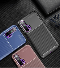 For Huawei Honor 20 20Pro TPU Case Carbon Fiber Silicone Phone Cover Full Protection Soft Bag