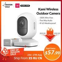 Sicurezza domestica Wireless aggiungi compatibilità HomeKit fotocamera interna ed esterna batteria ricaricabile Wi-Fi servizio YI Cloud gratuito di 3 mesi