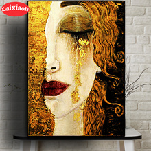 Classic Artist Gustav Klimt Tear Abstract Diamond Painting Rhinestone 5D DIY Diamond Embroidery,Cross Stitch,diamond Mosaic art