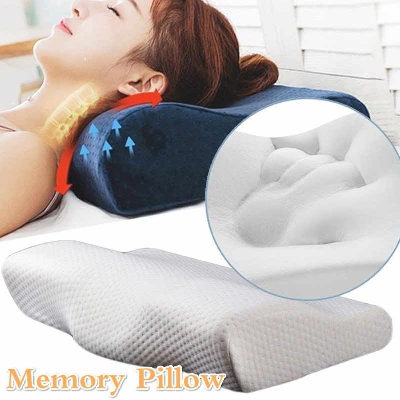 Memory Foam Pillow Bedding Neck protection Slow Rebound Memory Foam Butterfly Shaped Pillows Sleep Health Cervical Neck Pillow
