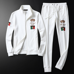 High-end Brand Casual Sports Suit 2019 Autumn And Winter New Men's Suit Embroidery Sweater + Pants M-5XL
