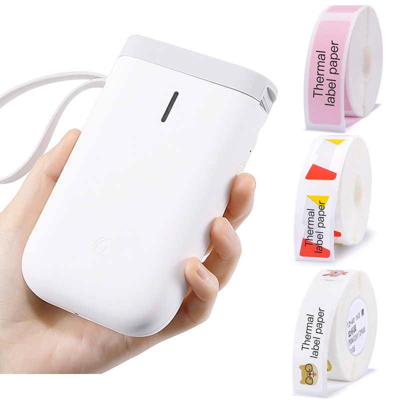 Portable Thermal Label Printer Handheld Price Sticker Printer Bluetooth Connection for Mobile Phone Android iOS