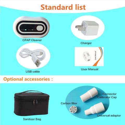 portatil cpap ozonio mais limpo gerador desinfetor