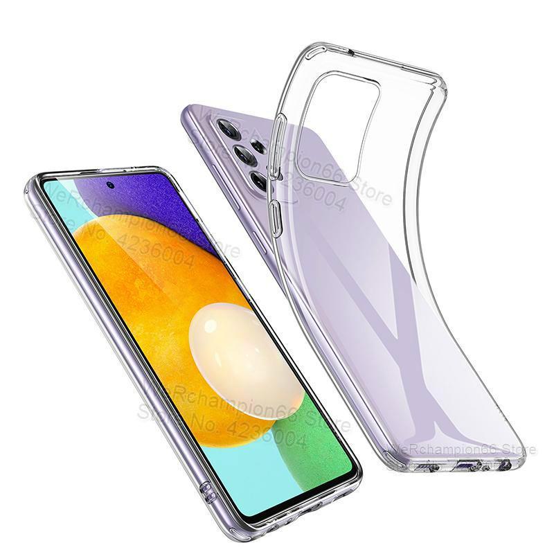 Тонкий мягкий силиконовый чехол для Samsung Galaxy A52 A526B A5260 A72 A725F A42 A32 A12 A02S 2021 A51 A71, прозрачный чехол из ТПУ
