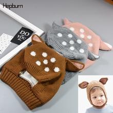Hepburn Brand 2019 Dot  Print Newborn Cap Children Hats Kids Baby Girl/Boy Winter Soft Warm Windbreak Wool Cotton Beanie