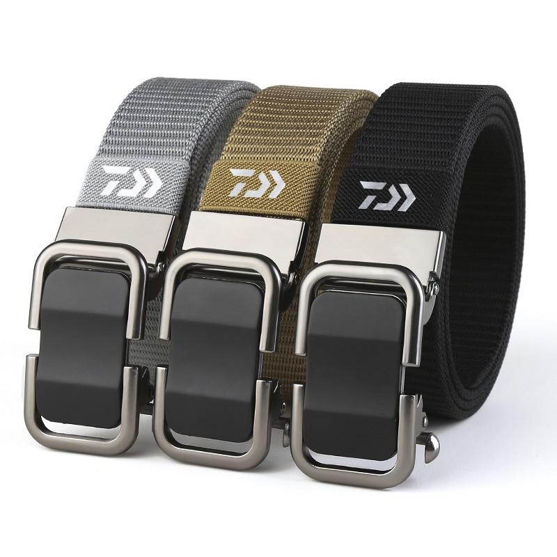 2020 Daiwa Men's Fashion New Toothless Automatic Buckle Belt Nylon Canvas Belt Outdoor Leisure Breathable Belt 1
