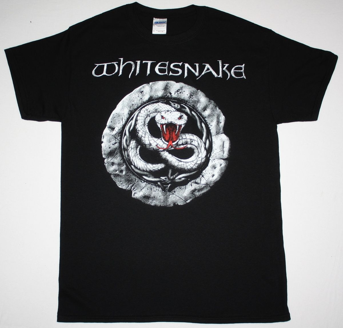 WHITESNAKE SIGN HARD ROCK BAND DAVID COVERDALE DEEP PURPLE DIO NEW BLACK T-SHIRT T Shirt Summer Famous Clothing image