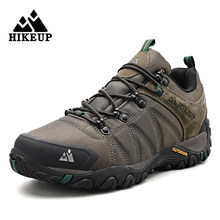 HIKEUP Latest Men's Hiking Shoes Mesh Breathable Ourdoor Rock Climbing Shoes Mens Trekking Sneakers Hunting Boots Men Tactical