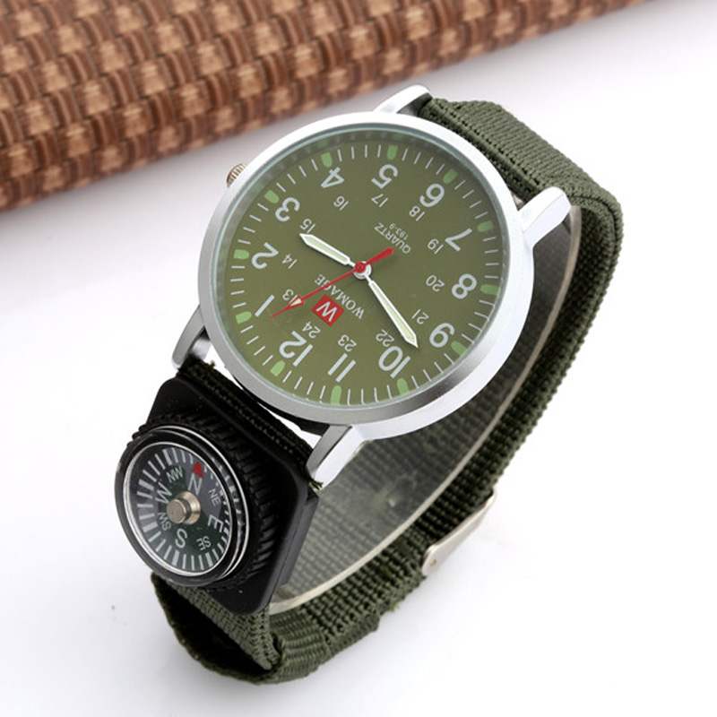 Womage Kids Watches Children Fashion Outdoor Sports Boys Military Officer Fabric Band Watch Kid relogio masculino