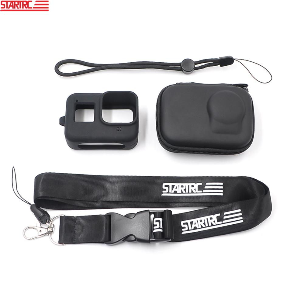 STARTRC Action Camera Accessory For GoPro Hero 8 Black Storage bag Silicone Body Case Protective lanyard For Gopro 8 Black