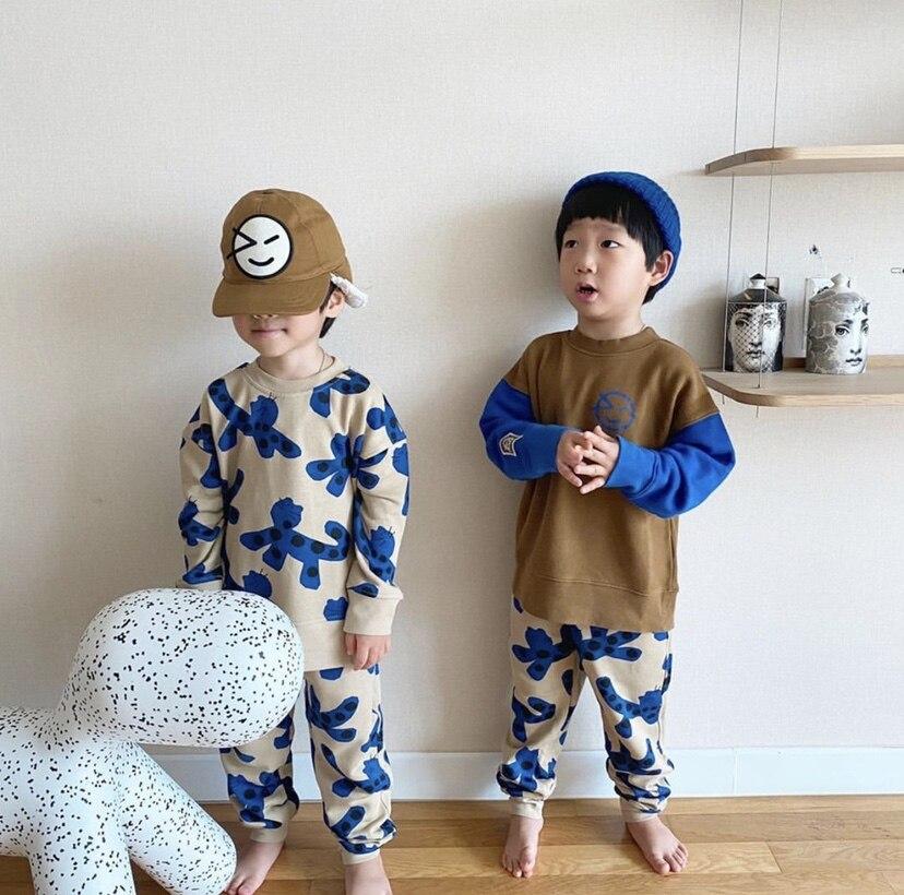 Kids Sweaters 2021 Wynken Brand New Autumn Winter Boys Girls Cartoon Face Print Sweatshirts Baby Children Outwear Clothes Tops 5