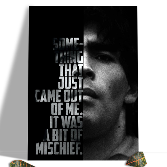 Diego Maradona Football Poster Canvas Comics Printed sports Decoration Painting Home Wall Living Study Room Child Room Bedroom 24