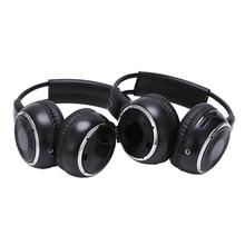 2 x duplo infravermelho estéreo fone de ouvido sem fio ir carro dvd player encosto de cabeça preto