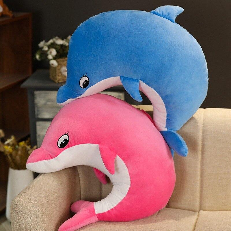 1pc 35cm Kawaii doux dauphin en peluche jouets poupées en peluche Animal créatif enfants jouet décor à la maison cadeau de noël pour filles enfants garçons