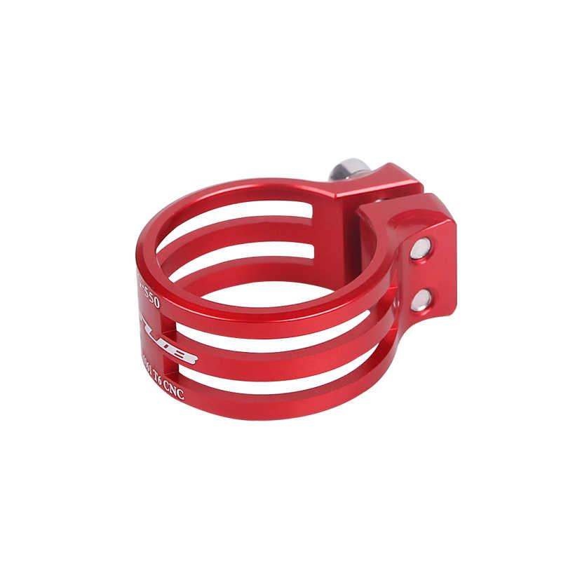 GUB зажим для сидения велосипеда MTB держатель для горного велосипеда зажим из углеродного волокна рамка трубка использовать 31,8 мм/37 мм анодированный 5 цветов #550
