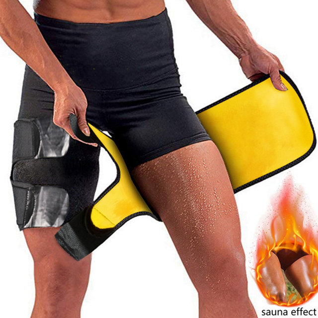 Slim Thigh Trimmer Leg Shapers Slender Slimming Belt Neoprene Sweat Shapewear Toned Muscles Band Thigh Slimmer Wrap L/XL 1