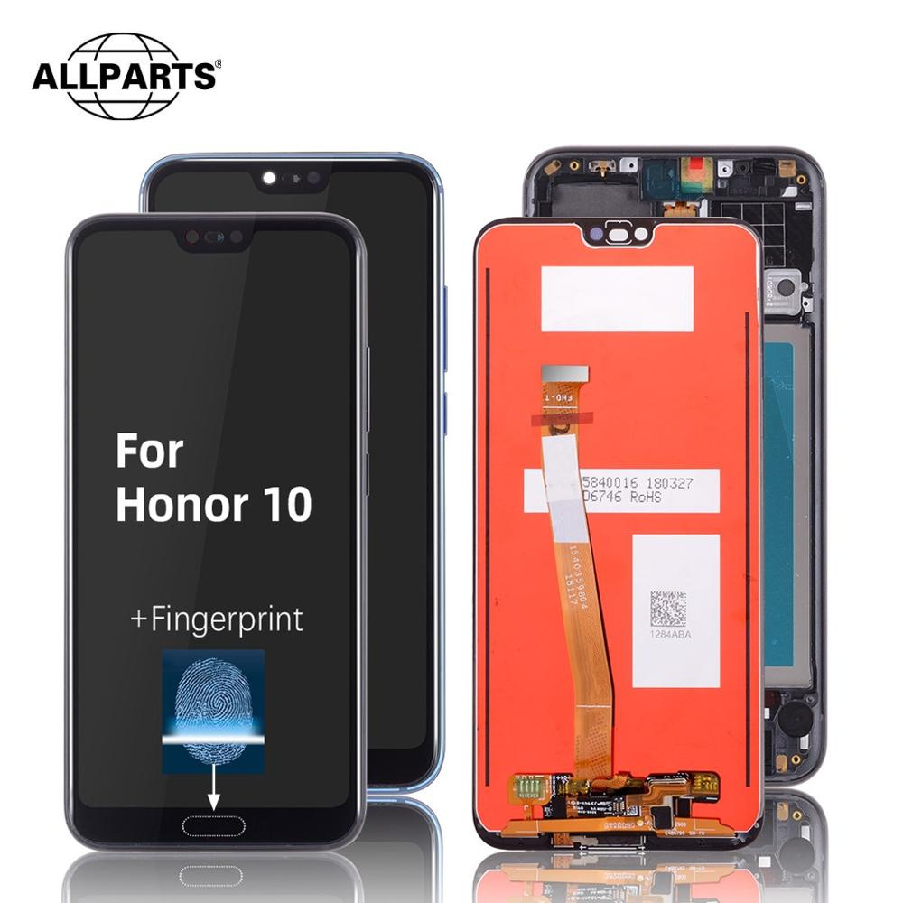 Original Display For Honor 10 LCD Display Touch Screen with Fingerprint Replacement For Huawei Honor 10 Display with Frame|Mobile Phone LCD Screens| |  - title=