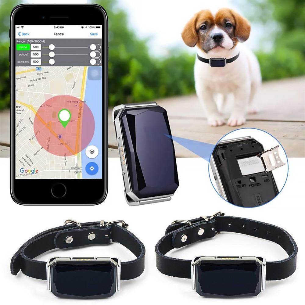Водонепроницаемый ошейник для домашних животных, Wi-Fi, мини-светильник GPS трекер для домашних животных собак GPS трекер детей персональный лок...