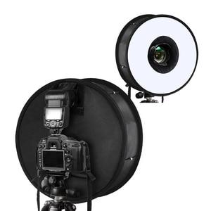 Image 4 - 45cm טבעת Softbox מבזק עגול סגנון פלאש אור לירות רך תיבה מתקפל רכה פלאש אור מפזר עבור DSLR Canon ניקון