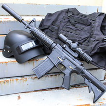 Jouet pistolet à eau électrique pour enfants, jouet pour enfants, M416, jeep, mange du poulet pour survivre, fusil manuel, Machine à saisir