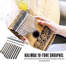 Kit de pièces de rechange pour Piano à pouce Kalimba 10 clés, Instrument de musique, pont de Piano à pouce, Kit de selle pour bricolage, sans Base