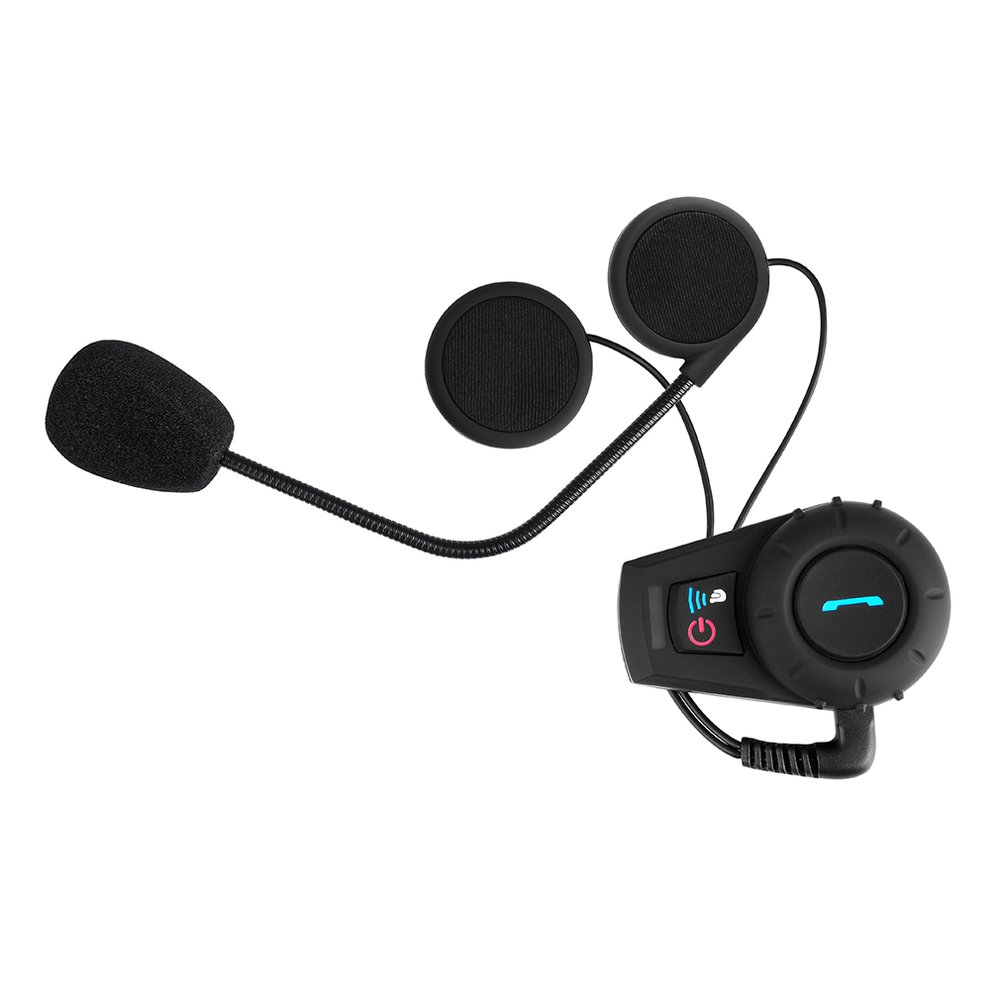 BT Motorcycle Helmet Headset And Interphone 500M Range Intercom Function Kit For Motorcyclists And Skiers UK Plug