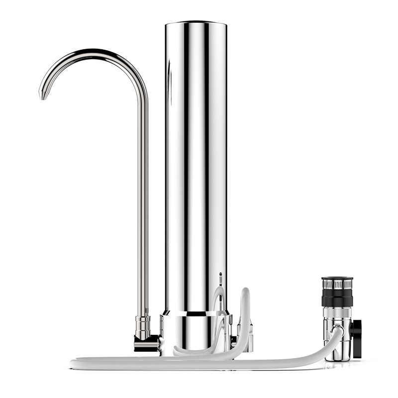 水フィルターデスクトップステンレス鋼浄水器の蛇口健康セラミックカートリッジキッチン蛇口フィルター