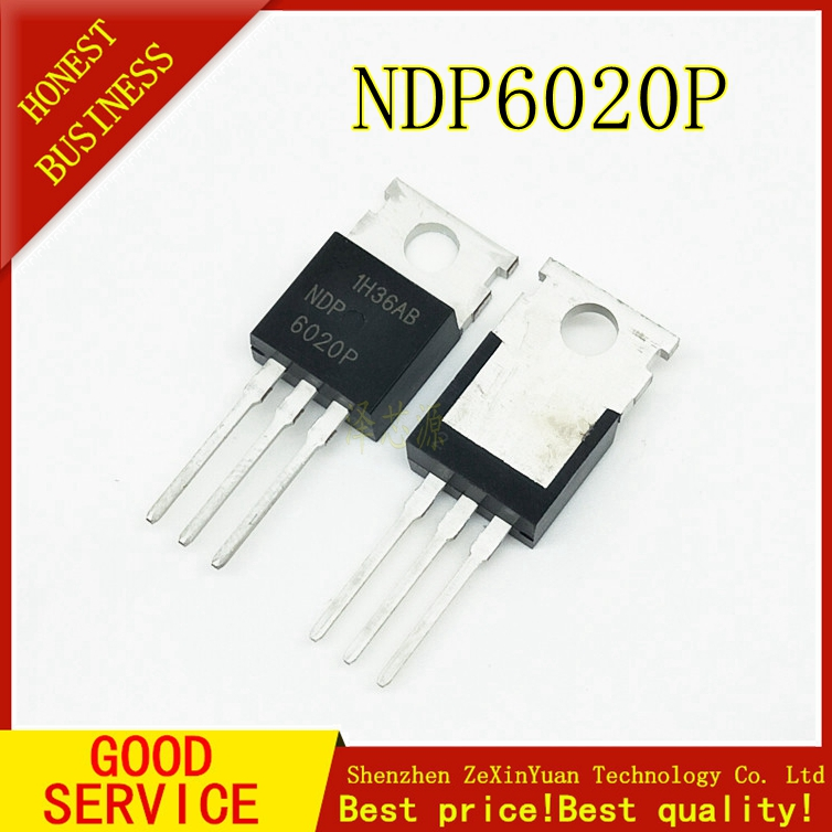 10PCS NDP6020P NDP 6020P 24A 20V TO-220