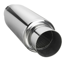 Car Exhaust Muffler 2.5 Inch Inlet Stainless Steel Universal Resonator 12 Inch Long Performance Muffler