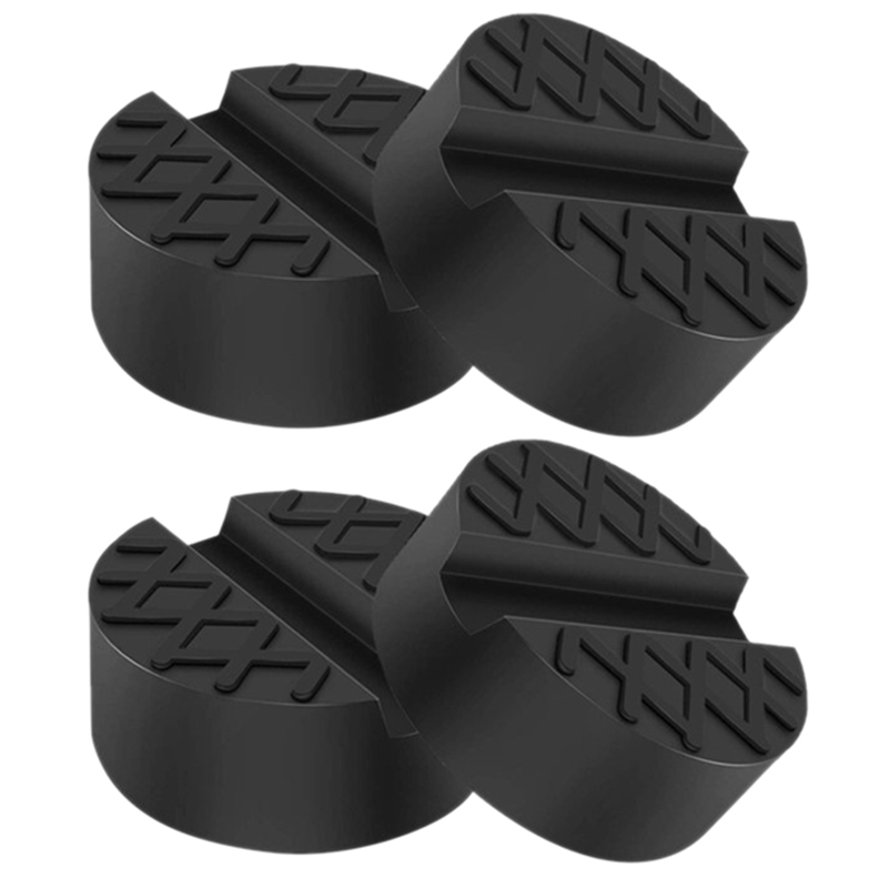 4 Pack Universal Car Jack Pad Weld Jacking Lifting Lifter Rubber Disk Frame Protector Guard Carriage Tool Protects Your Car An