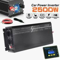 USB Charger 2500W Portable Car Power Inverter Charger Converter Adapter DC 12V/24V to AC 120/220V Modified Sine Wave Transformer