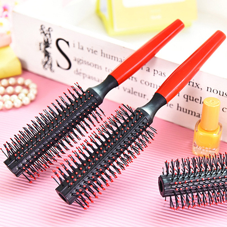 Lady Fashion Roll Curling Hairbrush Portable Round Hair Care Brush Hairbrush Anti-static Hair Massage Comb Hair Styling Comb